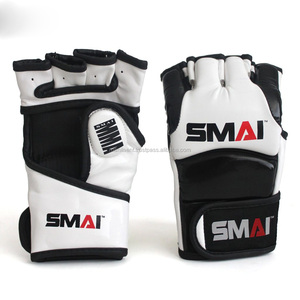 Custom Logo cheap Half Finger Sparring MMA Boxing Gloves