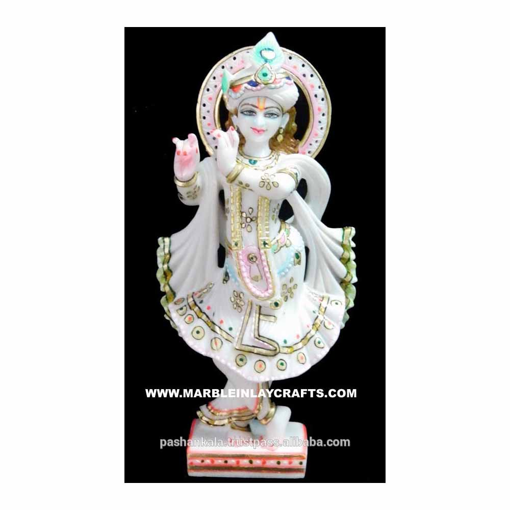 White Marble Lord Krishna Statue Buy Indian Hindu God Krishna