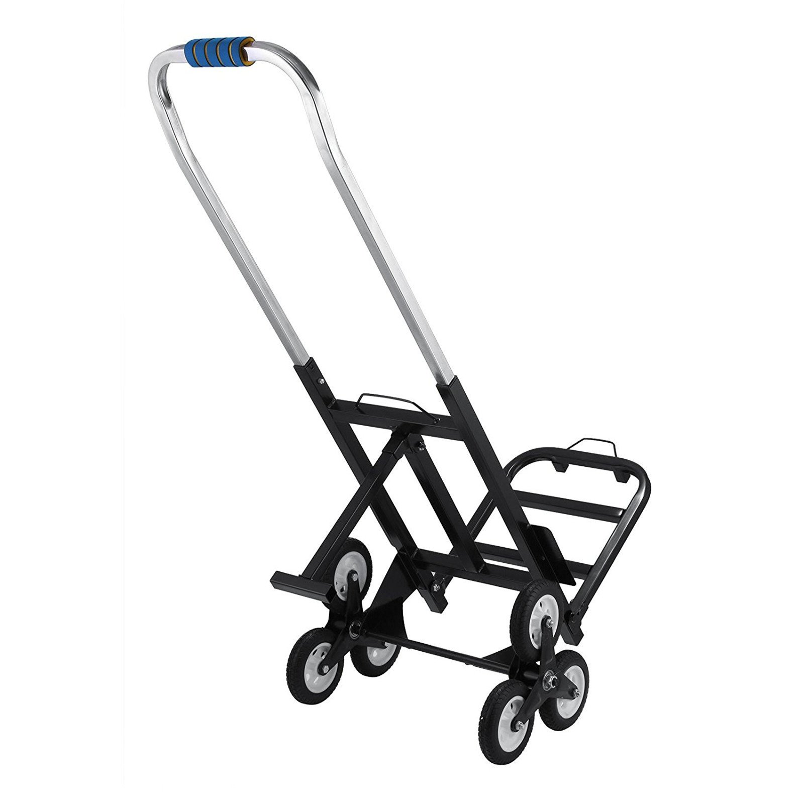 Z-bond 420 LBS Capacity Stair Climber Cart 30 Inch All Terrain Stair Climbing Hand Truck Folding Stair Hand Truck Heavy Duty with 6 Wheels