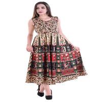 084fedf867 Attire Fashions Cotton Rajasthani Animal Print Short Dress - Buy Ladies  Cotton Print Dresses