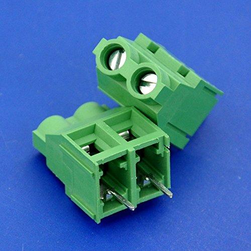 "Electronics-Salon 2 PCS 2 Poles 7.62mm/0.3"" 30Amp PCB Universal Screw Terminal Block."