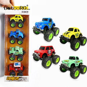 Detoo kids toys pull back mini cars alloy 4wd cars diecast truck metal car toy model truck