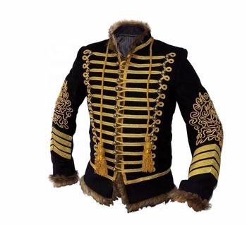 Napoleonica Stile Di Uniforme Militare Tunica Jimi Ussari Pelisse f6Y7gvby