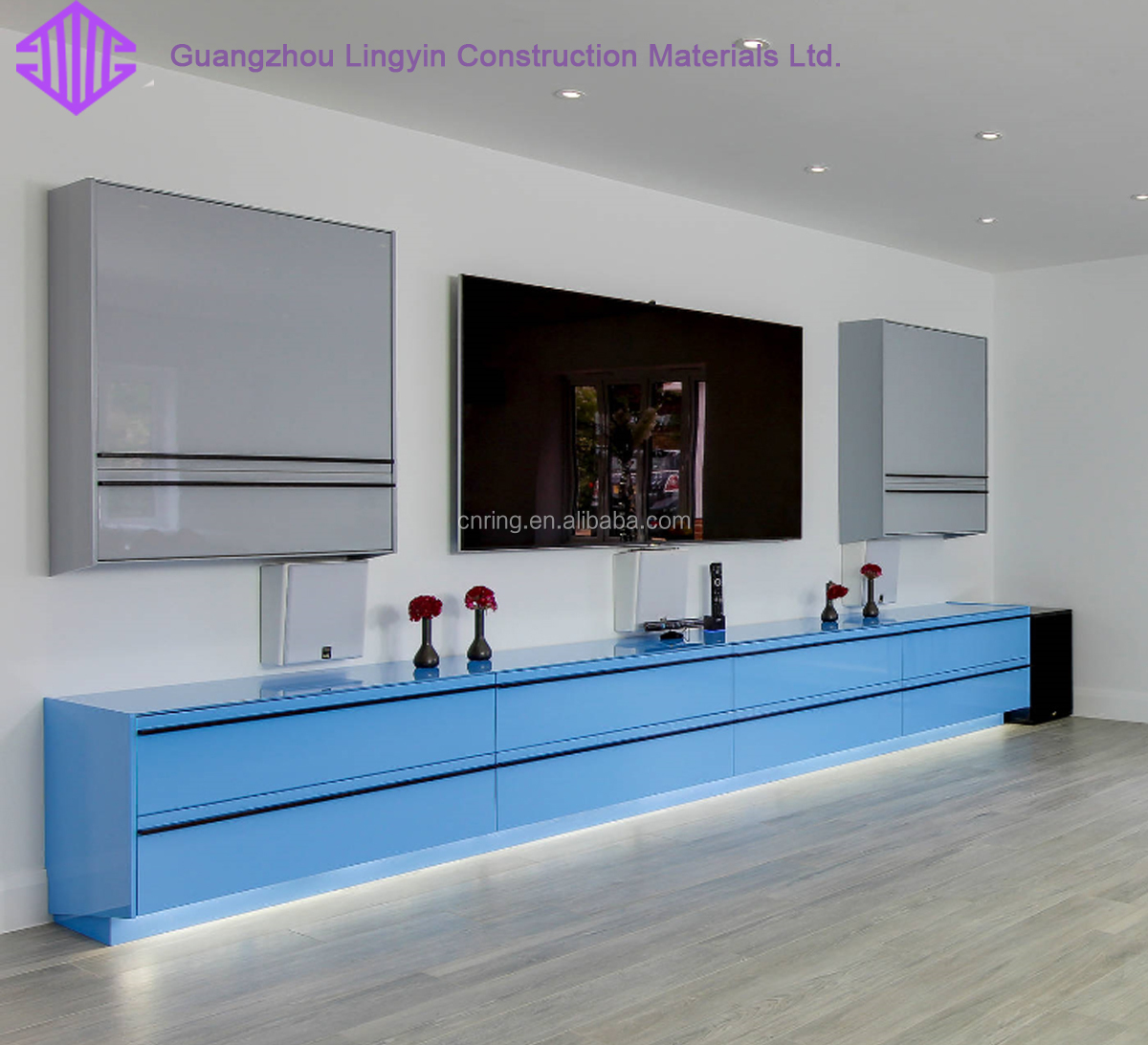 Fashion Pvc Tv Cabinet Living Room Tv Stand Cabinet Tv Bench