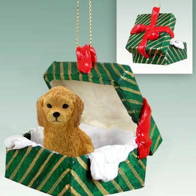 get quotations goldendoodle gift box christmas ornament - Goldendoodle Christmas Decorations