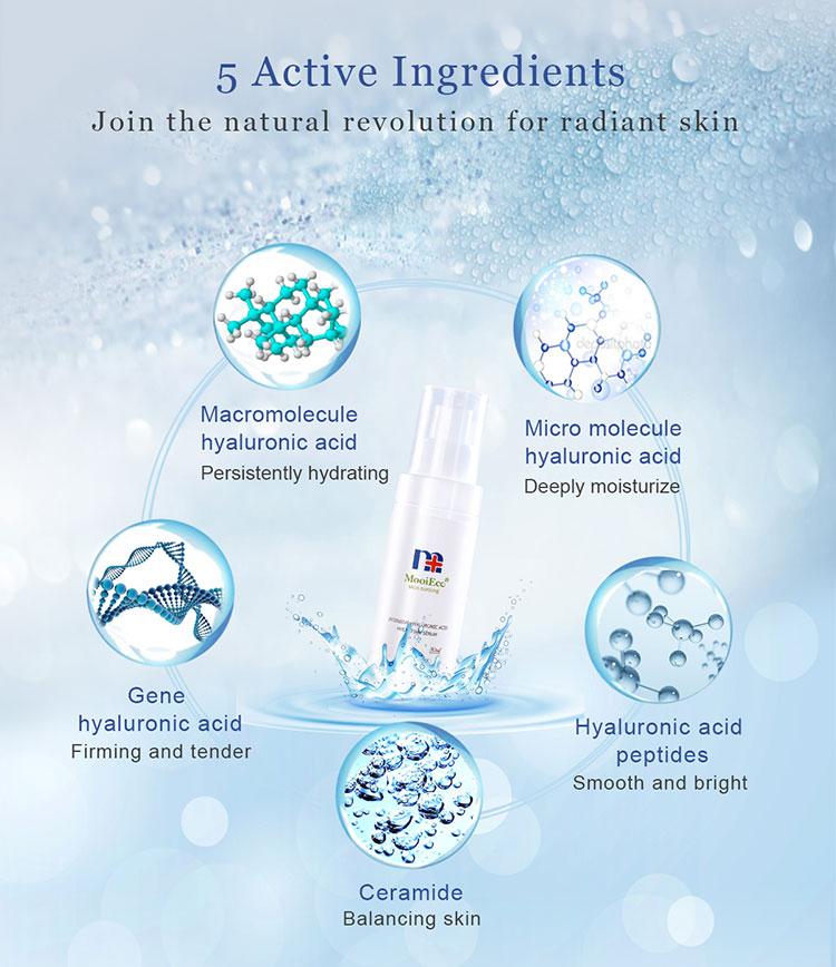 Produtos de clareamento da pele best seller 2018 ampolas soro anti envelhecimento facial hidratante facial hidratante para a ordem pequena