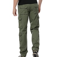 Cargo Pants - Mens Cargo Work Trousers Cotton Pants Camping Hiking