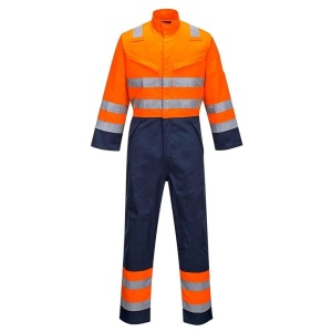 Factory industrial reflective safety coverall workwear reflective