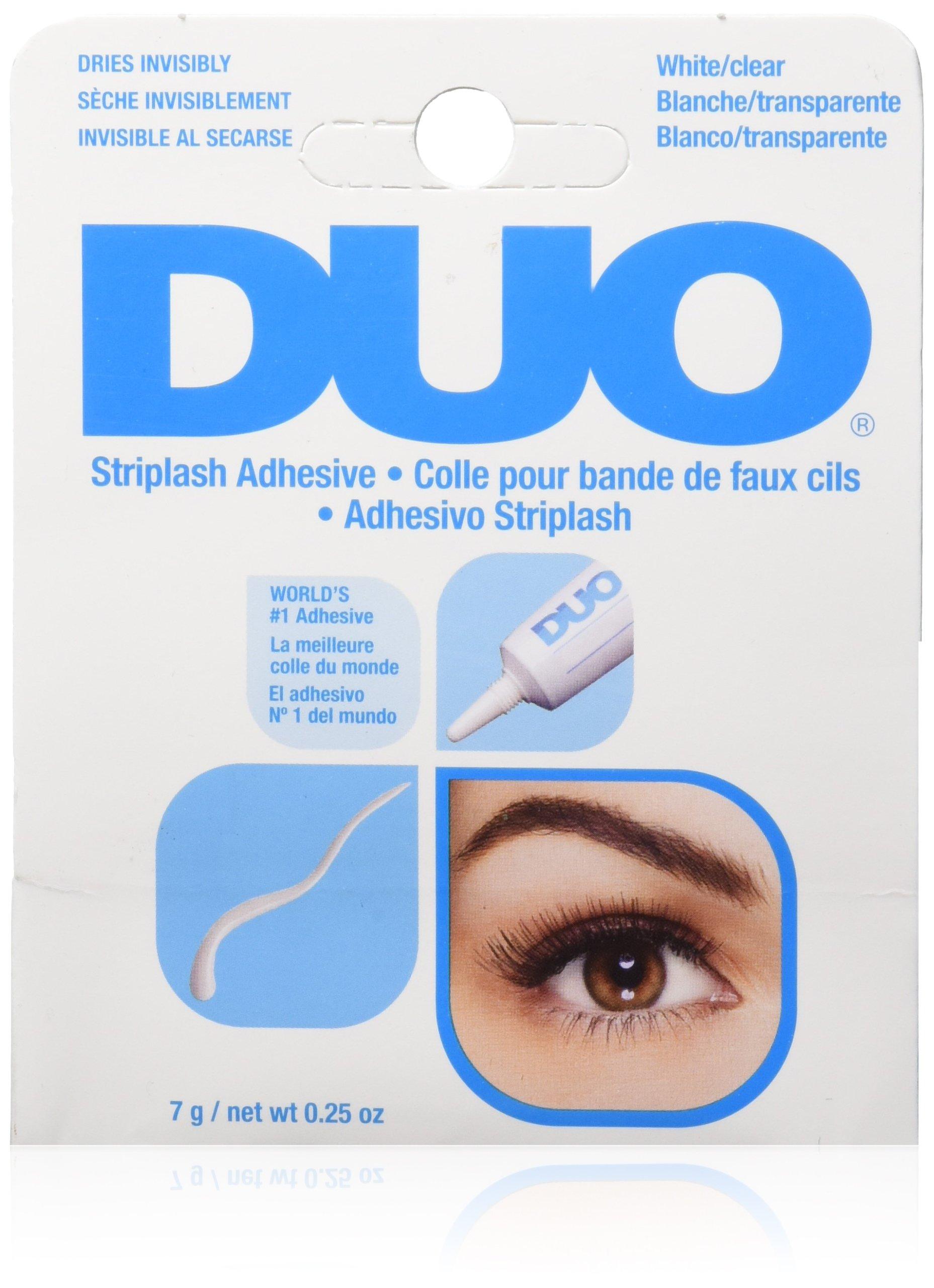 36d917f226e Get Quotations · DUO Strip Lash Adhesive White/Clear, for strip false  eyelash, 0.25 oz
