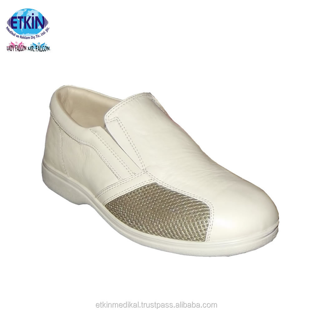 Antislip Footwear Diabetics Antibacterial Protection Sole PU Orthopedic for Foot UOdqvxA