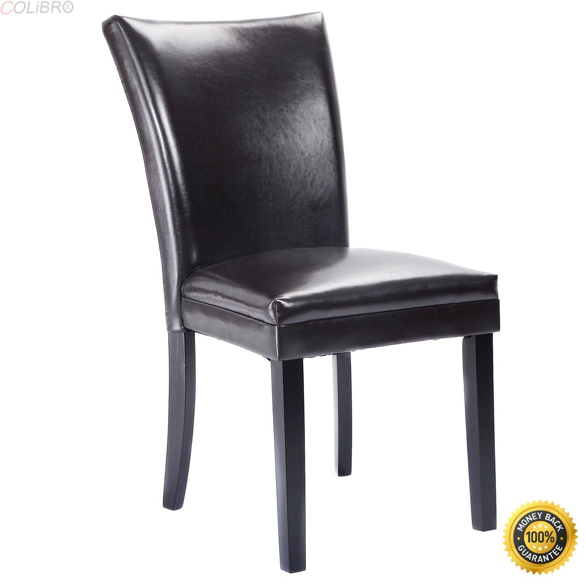 8623e4a673b1 Get Quotations · COLIBROX--Set of 2 Elegant Design PU Leather Accent Dining  Chairs Modern Home Furniture