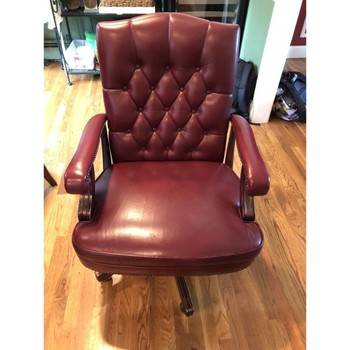 Peachy Executive Nail Head Burgundy Leather Rolling Arm Desk Wing Chair Executive Leather Office Chair Buy Executive Nail Head Burgundy Leather Rolling Arm Short Links Chair Design For Home Short Linksinfo
