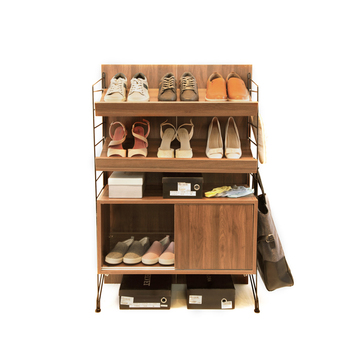 EZBO Living Room Furniture Shoe Rack Cabinet Wooden 4 Feet