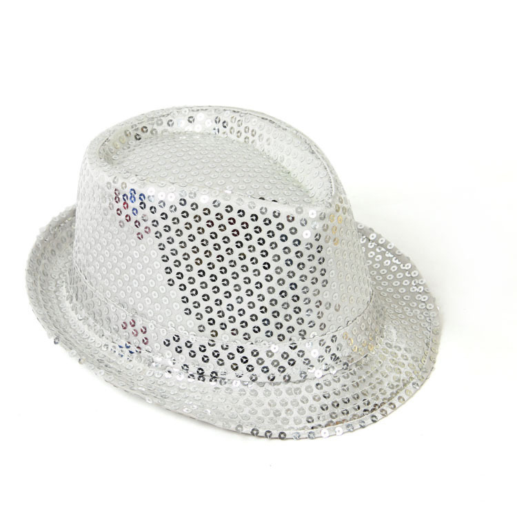 36d70ec4aea29 cheap price wholesale bling bling sequins hat fashion promotional jazz  fedora cap party hat