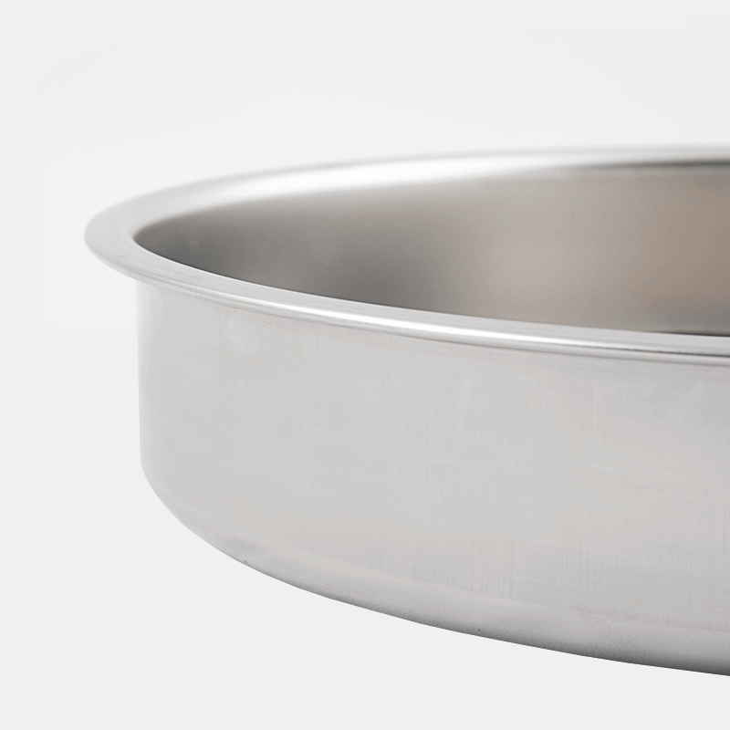 Eco Friendly Inox Stainless Steel 18 D Round Baking Tray