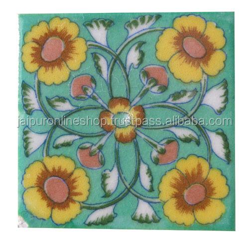 Designer Blue Pottery Tile From Jaipur Online For Swimming Pool - Buy  Designer Blue Pottery Tile,Bathroom Tile Design,Stair Tile Design Product  on ...