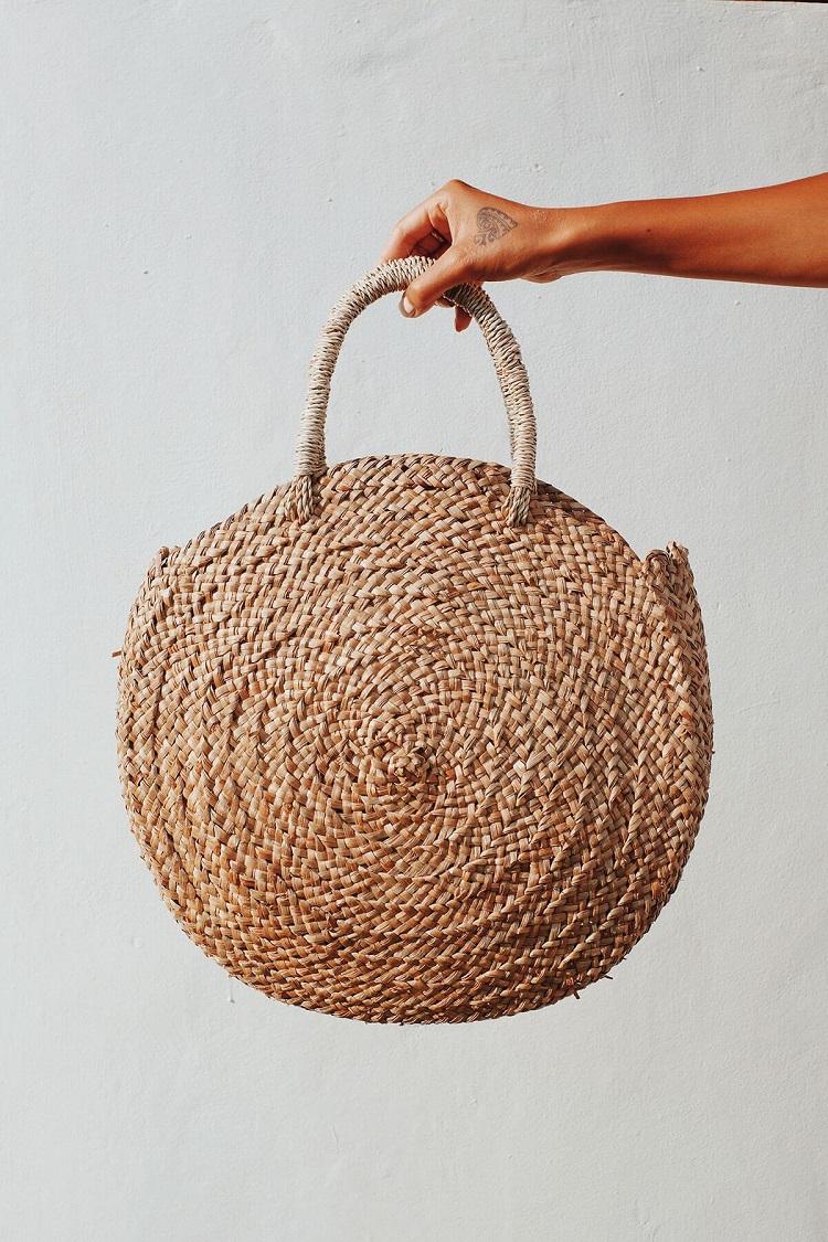 Best 잘 팔리는 2019 women handbag 100% 수 제 밀 짚 bag by 1001 만드는 법 마을에