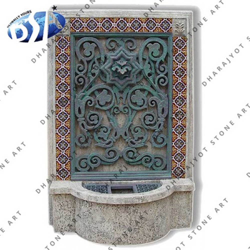decorative indoor carved marble fountains