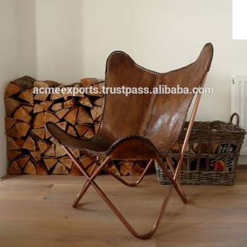 Leather Butterfly Shape Chair