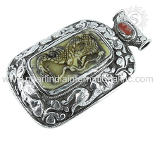 Artisan making dragon pendant coral gemstone silver pendant 925 sterling silver locket jewelry wholesaler