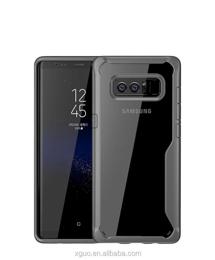 Wholesale Cell Phone Cover Note 8 Acrylic Case For Samsung Galaxy Note 8 Cases