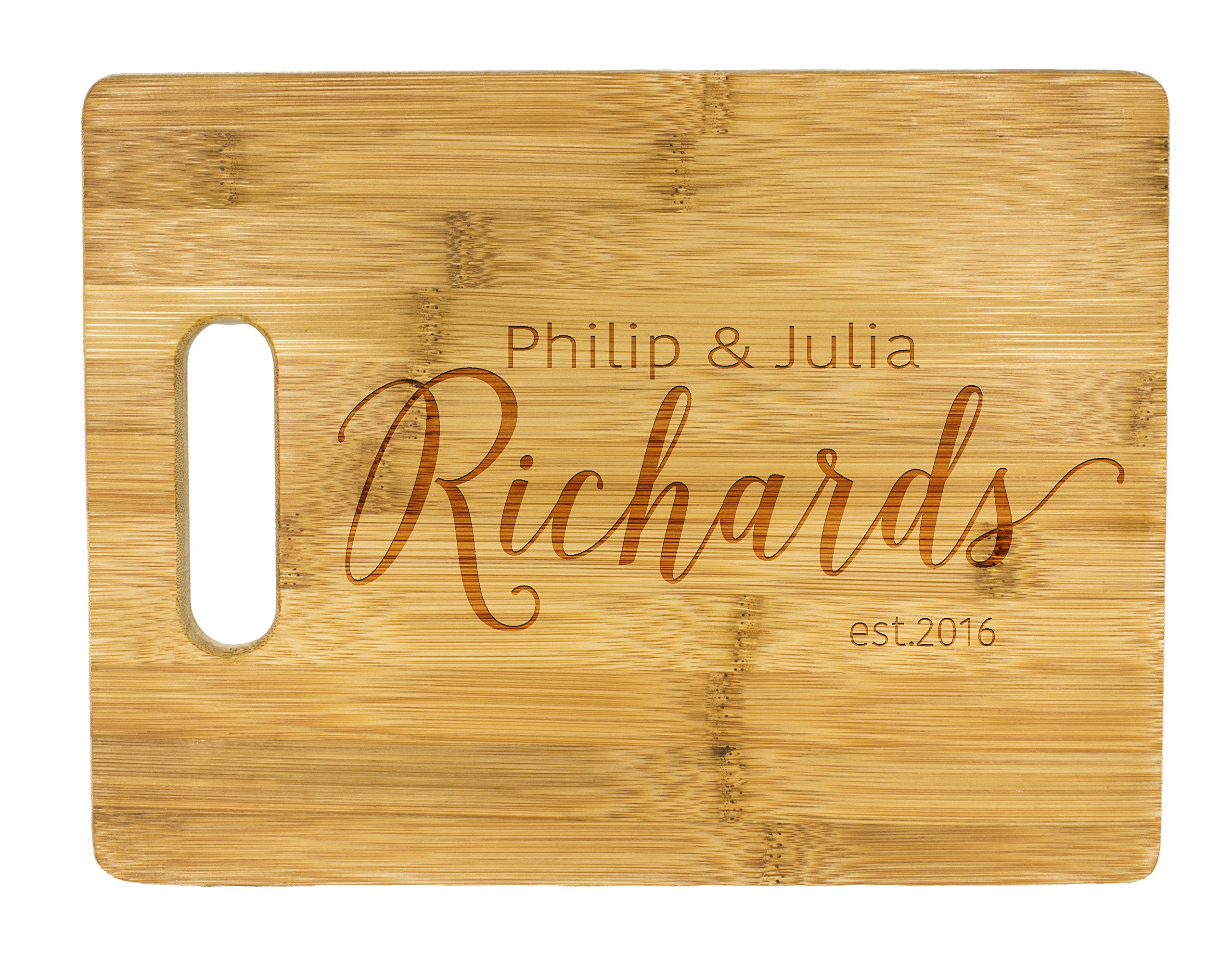 Personalized Cutting Board, Wedding Gift, Family Last Name Laser engraved cutting board ,Wedding Gift for couple, Kitchen decor