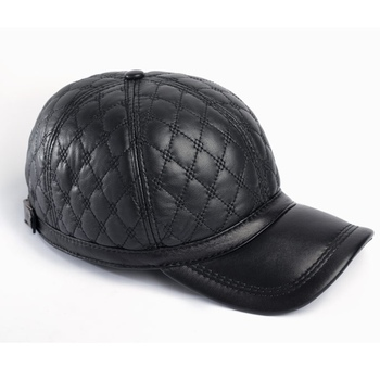 61cac02f445bb Genuine Leather Quilted Baseball Cap