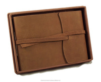 Handmade Genuine Leather Photo Album For Gift for Men or Women With Gift Box