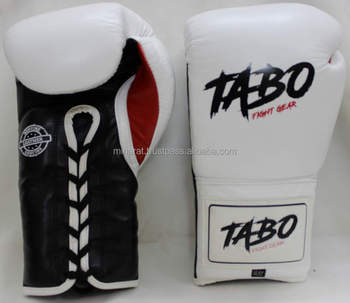 Customized Lace Up Boxing Gloves Black Sparring 8 10 12 14 16oz Training Boxing Gloves