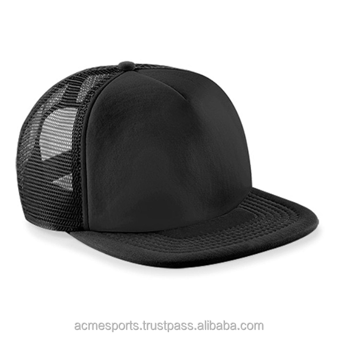 Snapback Caps - New Style black Leather Brim Snapback 7 Panel Cap