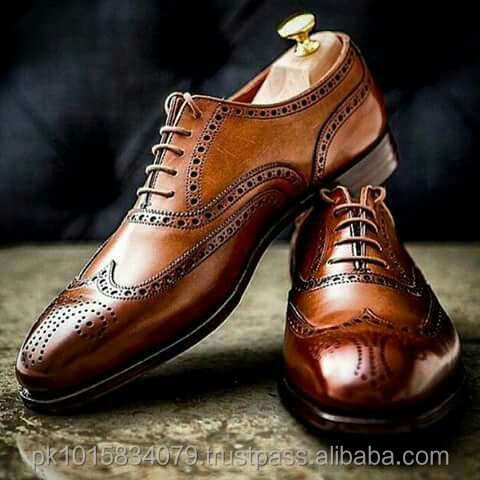 Brown Oxford Brogue Dress Shoes,Whole