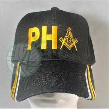 Masonic Regalia Prince Hall PH Stripped Bill Caps Mason Hat Free Mason  Headwear ffaf568fb31