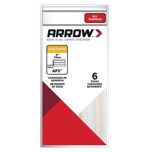 Arrow Fastener AP5 All Purpose 1/2-Inch Glue Sticks, 6-Pack