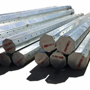 Galvanized and poweder coating steel road sign poles,electricity poles and wires