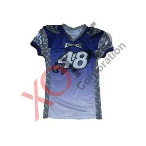 competitive price 0f37b 95170 Purple Eagle Design Sublimated American football Jersey