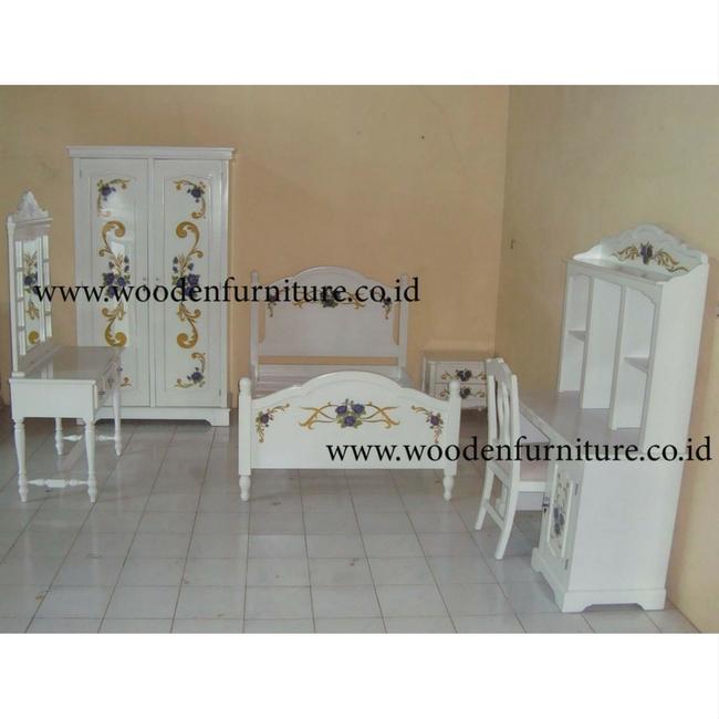 Children Bedroom Set White Painted Kids Furniture Classic Bedroom Furniture  - Buy Children Bedroom Set,Kids Antique Furniture,Kids Bedroom Furniture ...