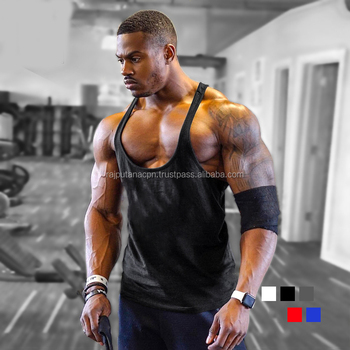 a8b0c8fb1441d8 Bodybuilding Singlet men s gym clothing tops fitness men s tank tops vest  muscle fit sleeveless wrist wraps