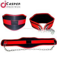 High Quality Weightlifting Dip Belt Neoprene Gym Support Straps GEL Wraps with Chain Heavy workout Dip Belt gym training belt