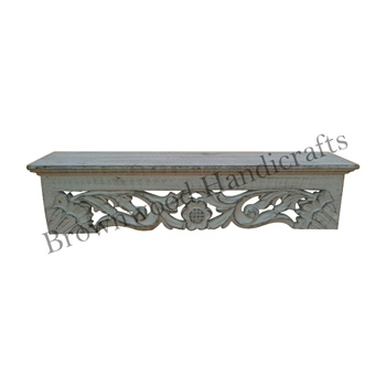 Wood Hand Carved Antique Wall Shelf Vintage Wall Shelf