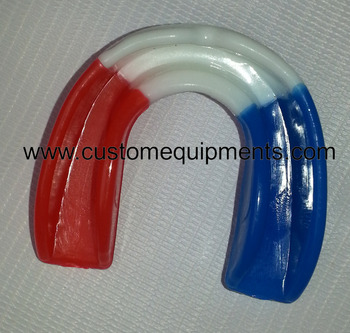 Colored Gel Mouth Guard France flag Gum Shield Boil Bite Mouth Guard All Sports