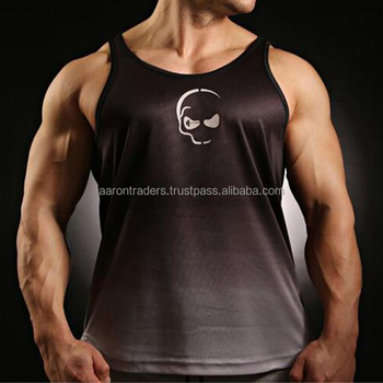 Men's Gym Sports Stringer Tank Tops Bodybuilding and Fitness Singlets