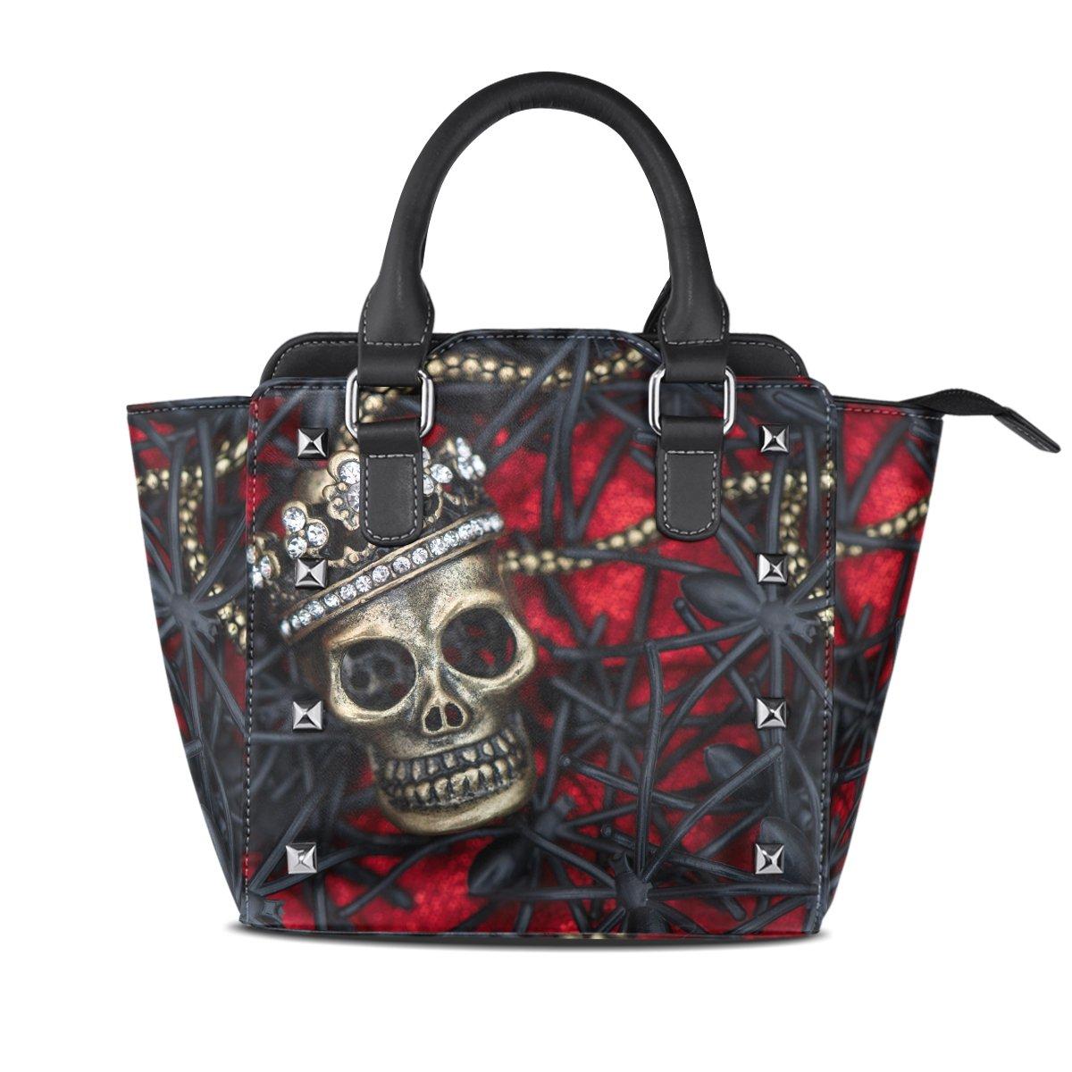 1ee6ce6738 Cool Casual Sugar Skull Hobo Tote Bag Unique Top-Handle Handbags with Strap  Small
