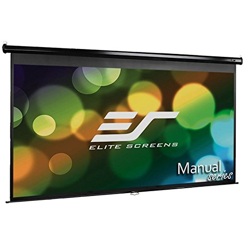 Elite Screens Manual Series, 100-INCH 16:9, Pull Down Manual Projector Screen with AUTO LOCK, Movie Home Theater 8K/4K Ultra HD 3D Ready, 2-YEAR WARRANTY, M100UWH