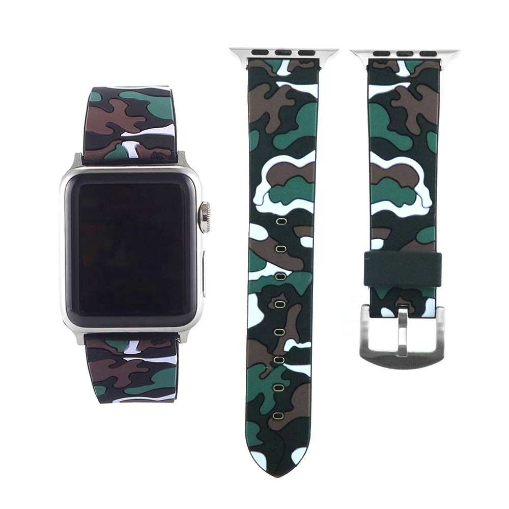 [Nuevo] camuflaje militar de silicona (42mm) banda de Apple Watch-Apple Watch Serie 3 2 1-Iwatch Correa (Malasia)