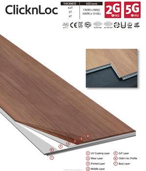 Luxury Vinyl Tile Lvt Click N Lock Plank