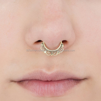Customized Size Non Piercing Brass Girls Wear Gold Plated Fake