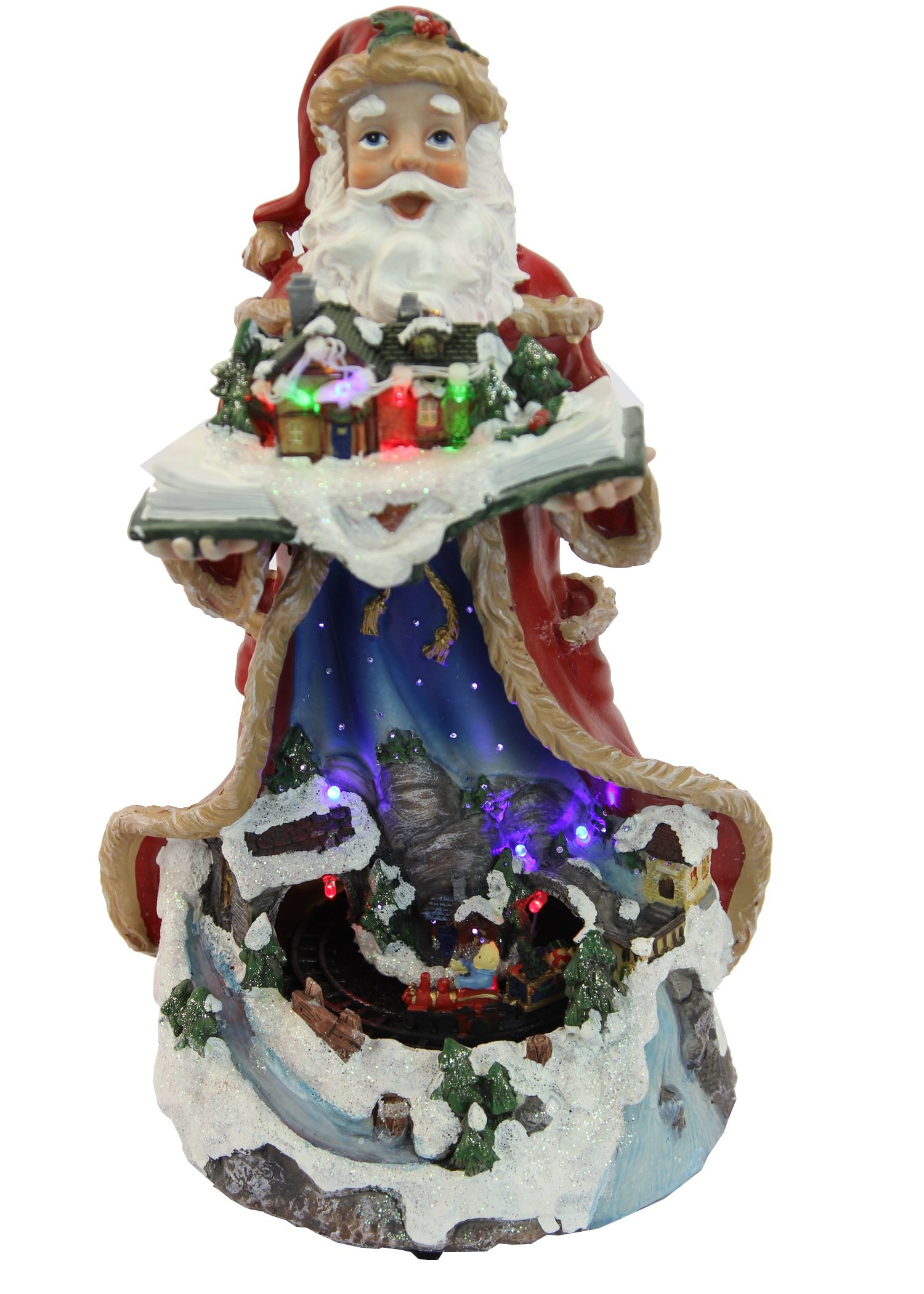 get quotations 13h battery operated led lighted santa claus and moving train christmas decoration - Lighted Train Christmas Decoration
