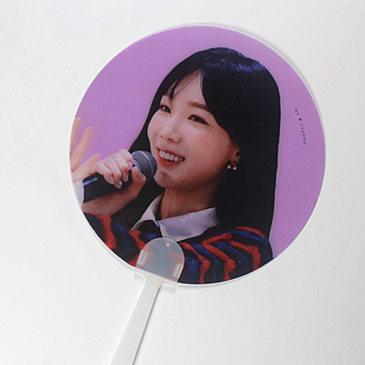 3D lenticular ventilador de mão de vendas populares da Coréia início KPOP projeto para o verão os turistas de fornecedor Chinês