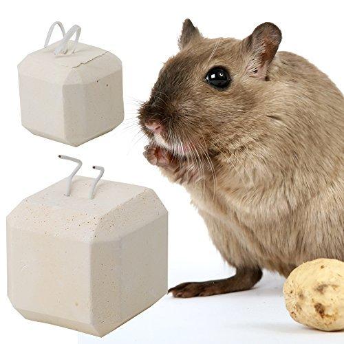 "NNDA CO chew toy, Mineral Stone Calcium Chew Toy Teeth Grinder Hamster Rat Chinchilla Rabbit,1.1""(S)"