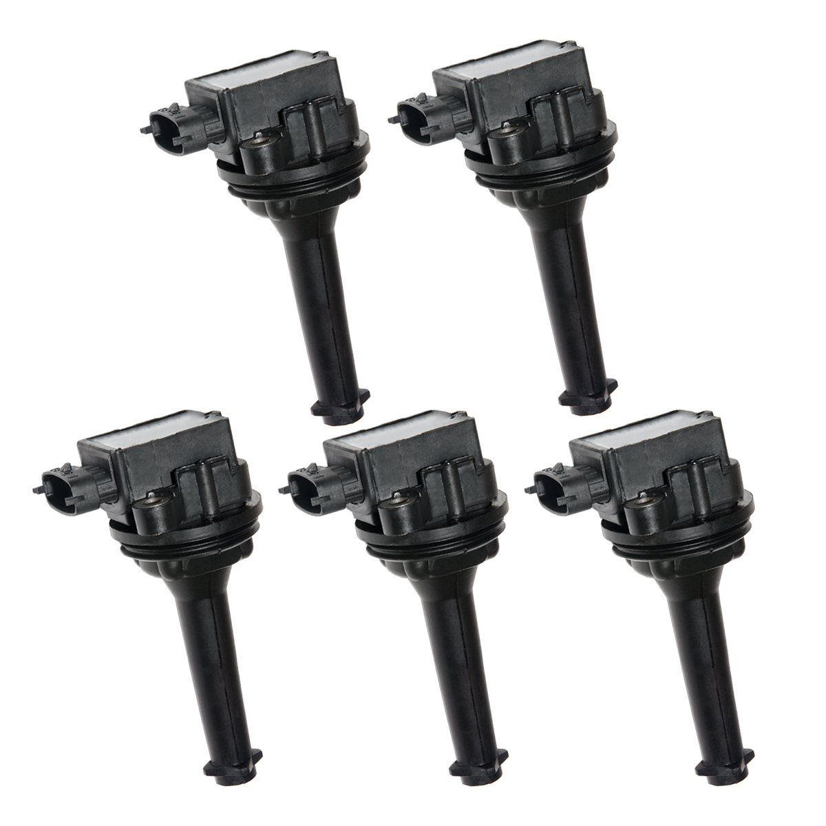 Premium Ignition coil 5 Pack for Volvo C70 S70 XC70 XC90 S60 L5 L6 2.3L 2.4L 2.5L 2.9L UF341 C1258 9125601